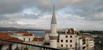 Beautiful Turkey, looking toward the Bosporus near the Galata Tower.