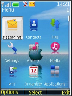 s40v3 theme apple in water