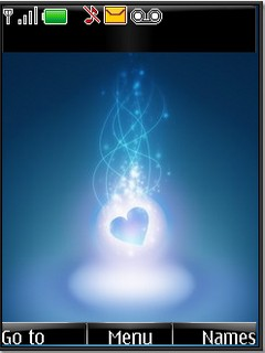 Abstract blue heart for s40v3 by shadow_20