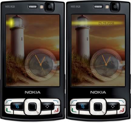 Light house clock flashlite screensaver by supertonic