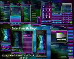 Satio Theme for Symbian 5th edition phones