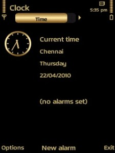 Gold v3.0 theme Clock