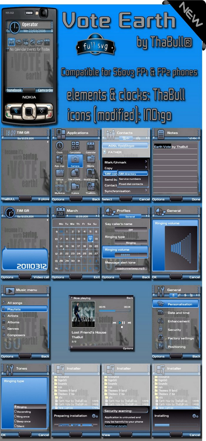 s60v3 theme earth by thabull for nokia