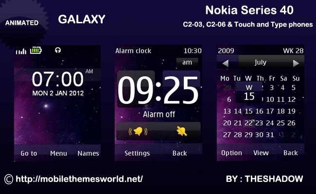 Galaxy theme for Nokia C2-03 & C2-06, x3-02
