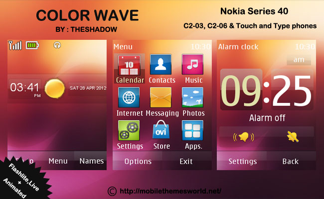 free mobile themes download for nokia c2-03