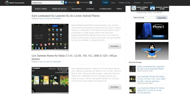 nokia and android theme store by theshadow