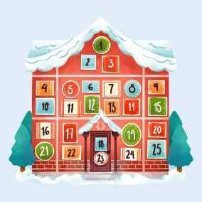 Calendario d'Avvento amato countdown verso il Natale