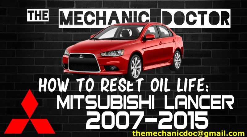how to reset oil life mitsubishi
