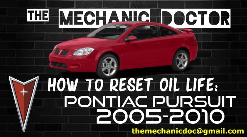 pontiac pursuit 2006 oil filter