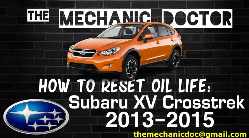 how to reset oil life subaruv