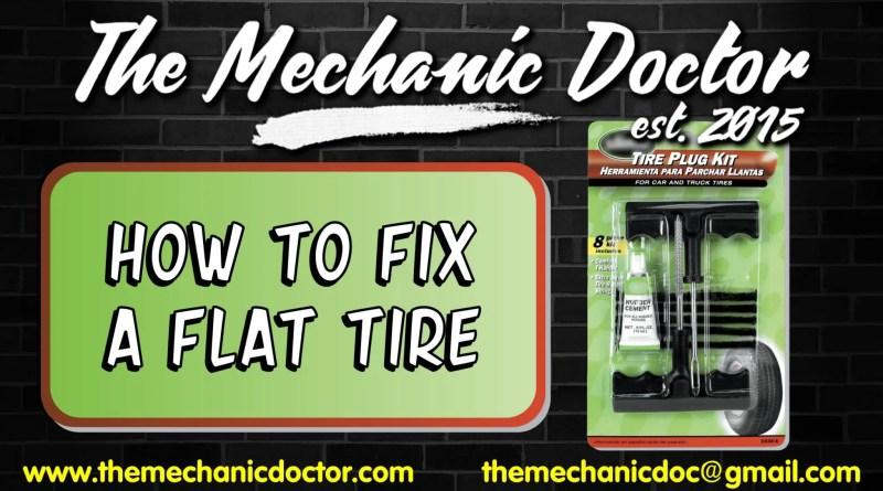 How to Fix a Flat Tire Using a Tire Repar Kit