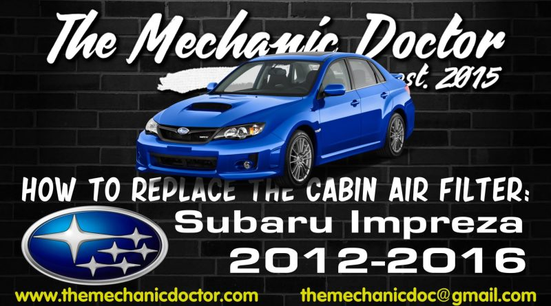 How to replace the cabin filter: Subaru Impreza