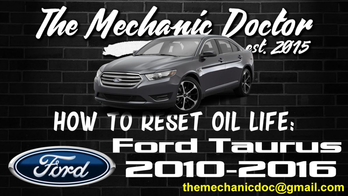 How To Reset Oil Life Ford Taurus