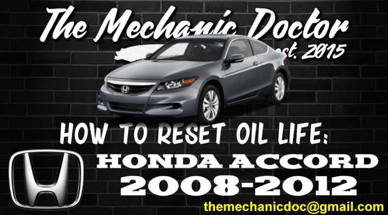 how to reset oil life honda acco