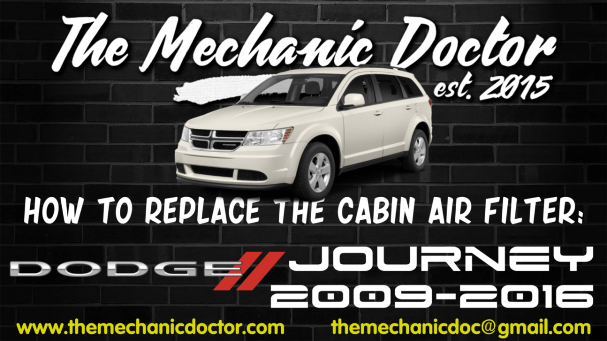 How To Replace The Cabin Air Filter Dodge Journey