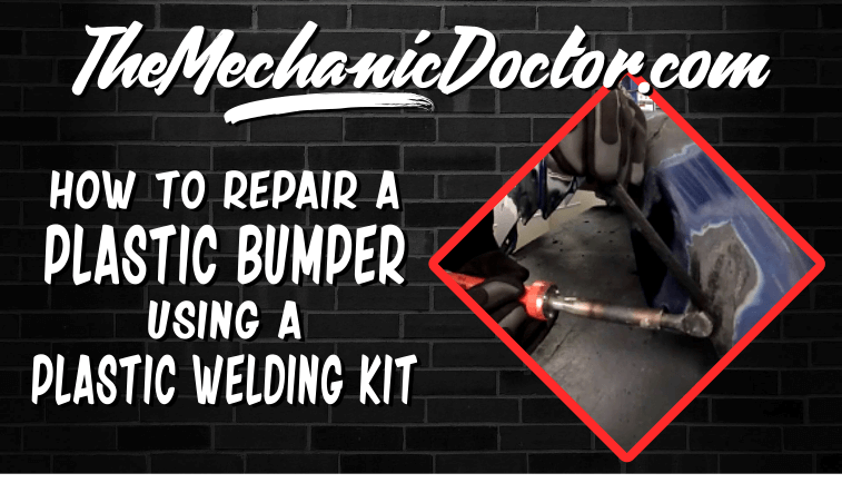 How to Repair a Plastic Bumper Using a Plastic Welding Kit