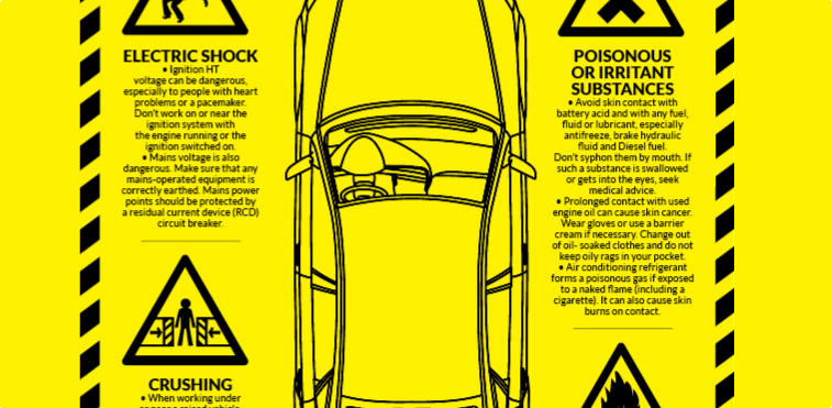 Common Auto Mechanics Hazards Infographic