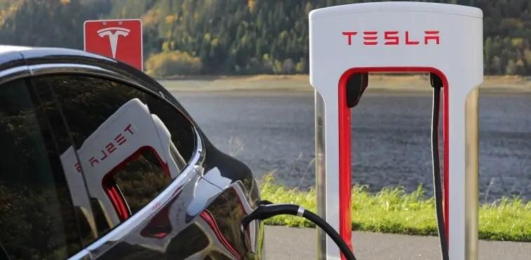 Tesla | Electric vehicle behing charged