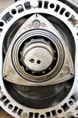 Inside view of a rotary engine
