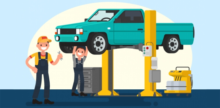 Diesel engine maintenance infographics