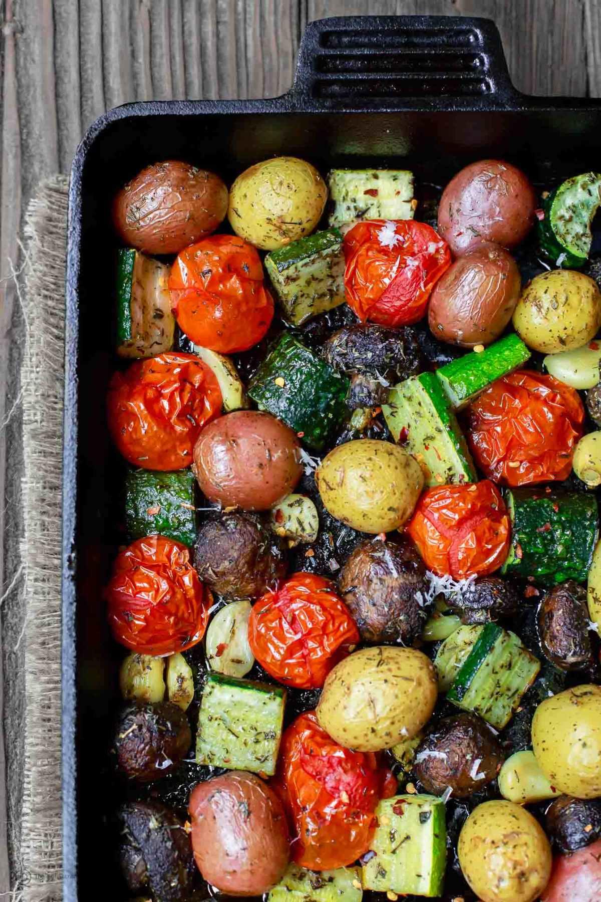 Italian Oven Roasted Vegetables The Mediterranean Dish 3