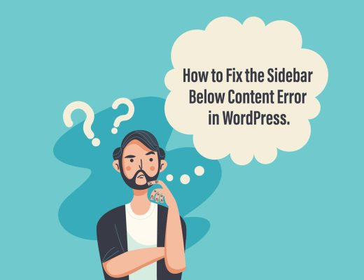 How to Fix the Sidebar Below Content Error in WordPress.