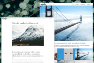 Adagio WordPress Photographer's Theme