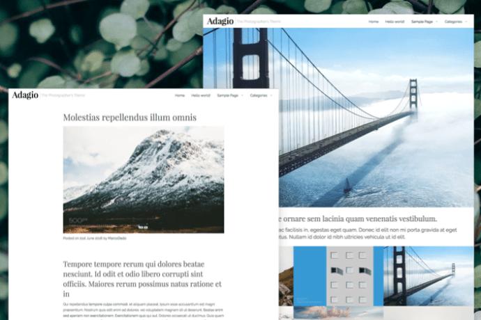 Adagio WordPress Photographer's Theme