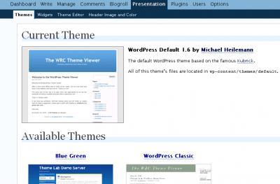Wordpress Theme Menu