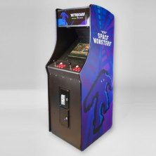 Upright Arcade Machine With Space Monsters Design