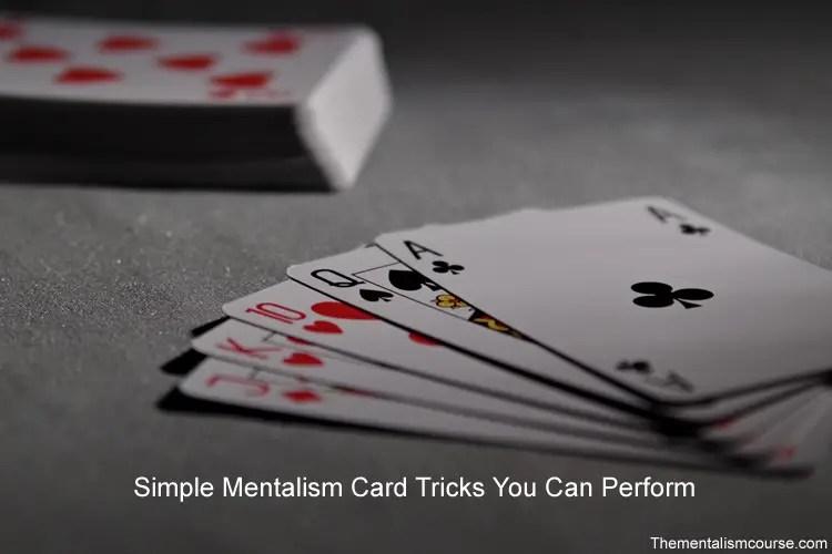 Mentalism card tricks