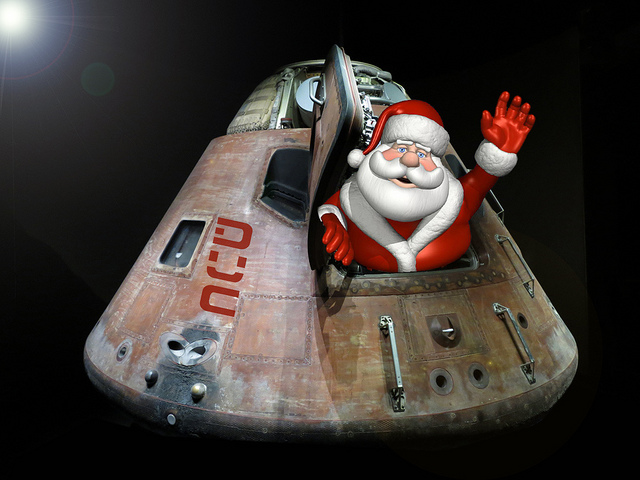 """Santa's Space DUI"" Flash Fiction by Michael W. Clark. Read online at Theme of Absence"