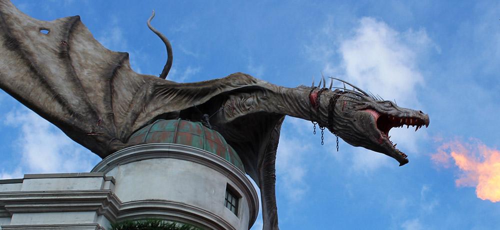 Gringotts ride at Universal Studios Orlando Florida