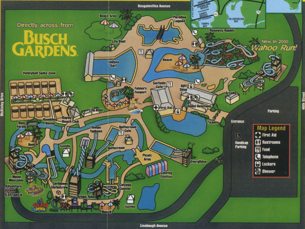 Theme Park Brochures Adventure Island   Theme Park Brochures Download Map  Location  Tampa  Florida Date  2000