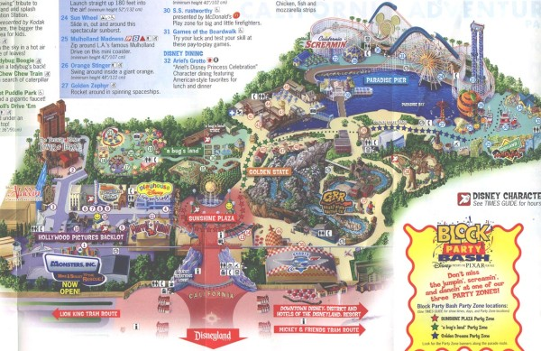 Theme Park Brochures Disney s California Adventure   Theme Park     Download Map  Location  Anaheim  California Date  2006