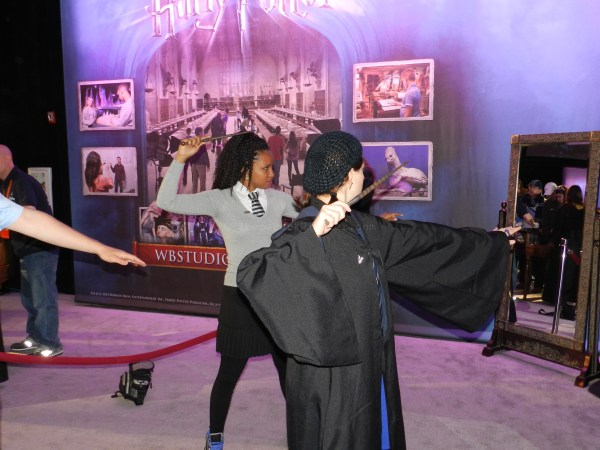 Wand combat lesson in the Expo center...don't mess with these ladies!