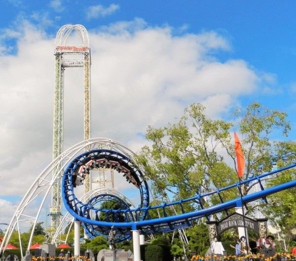 Corkscrew and Power Tower at Cedar Point