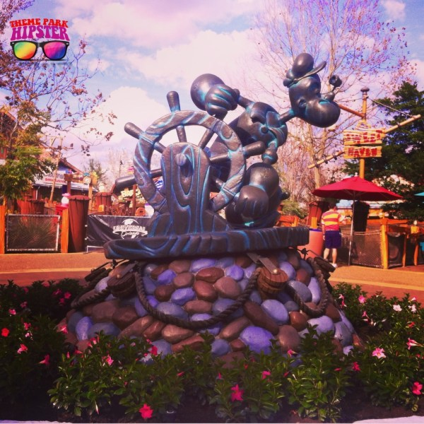 Statue of Popeye at Islands of Adventure