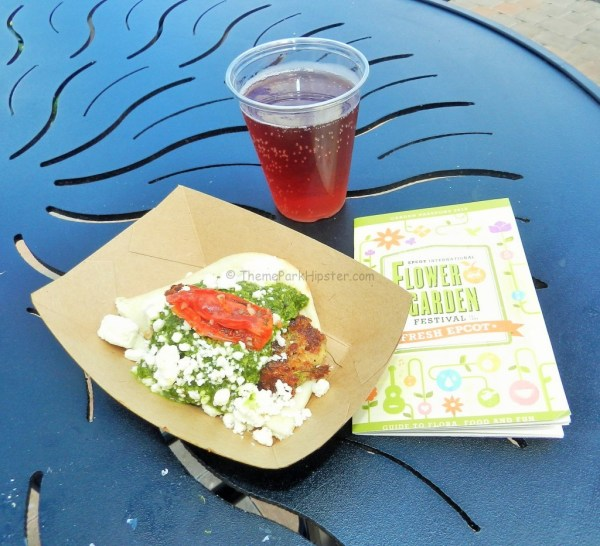 "Quinoa Vegetable ""naanwhich"" and Crispin Blackberry Pear Cider"