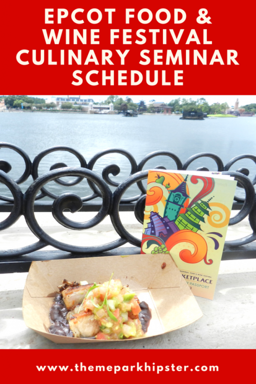 Epcot Food and Wine Festival Culinary Demonstration Schedule