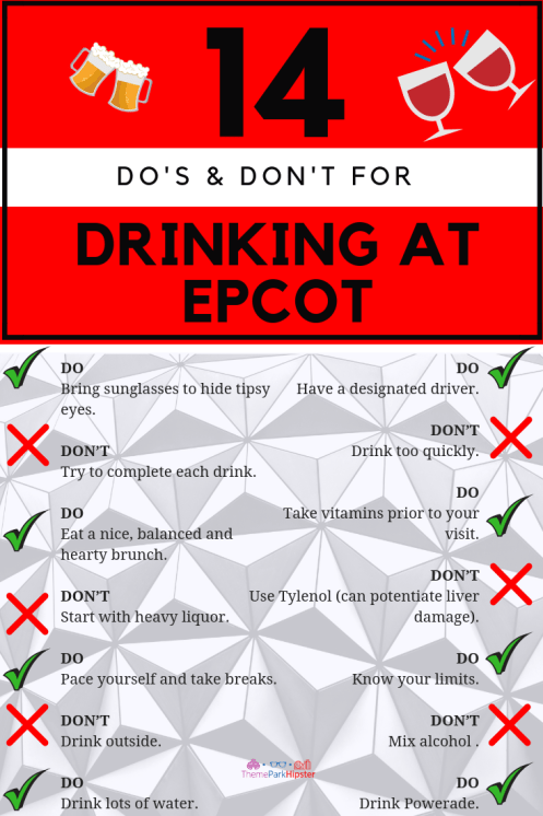 Drinking Around the World Epcot Tips. #disneytips #themepark