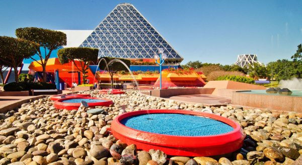 theme park hopping alone. Journey into Your Imagination with flying water fountains and pyramids at Epcot.