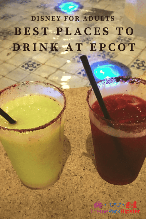 Where to find the best drinks at Epcot? Bright green Avocado Margarita at Disney.