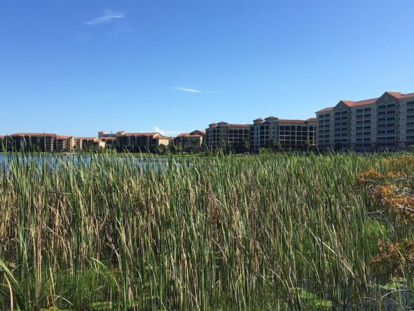 Westgate Lakes Resort & Spa Orlando with Big Sand Lake and resort in the background.