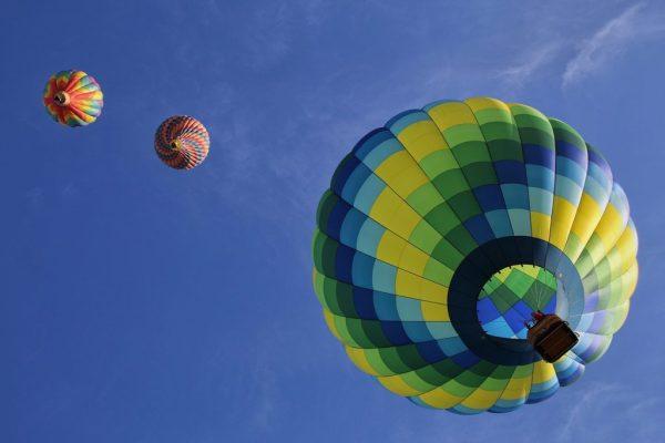 Hot Colorful Air Balloon Orlando Sky