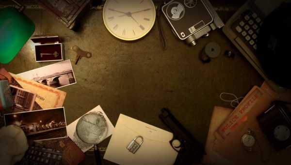 The Escape Company Suburban Killer Game mysterious items on table to solve murder.