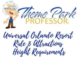 Theme Park Professor Universal Orlando Resort Ride Height Main