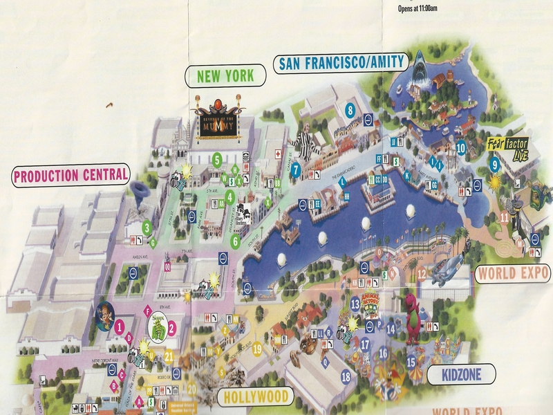 Universal Studios Orlando   2006 Park Map Photo By  molemaster43  2006 Park Map
