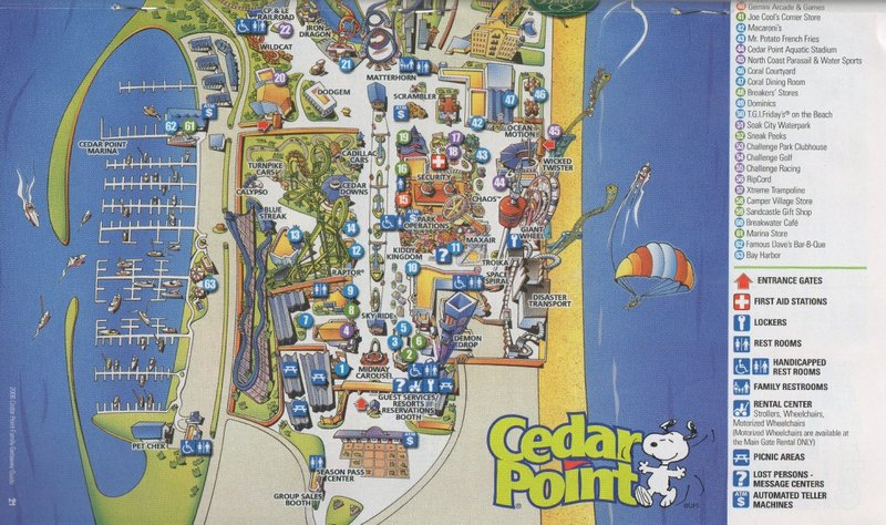 Cedar Point   2006 Park Map Photo By  thrillerman1  2006 Park Map