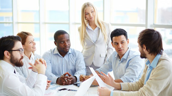 réunion équipe entreprise